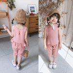 Quần áo trẻ em nữ mùa hè 2019